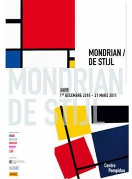 """Affiche : """"Mondrian / De Stijl"""" au Centre Pompidou"""