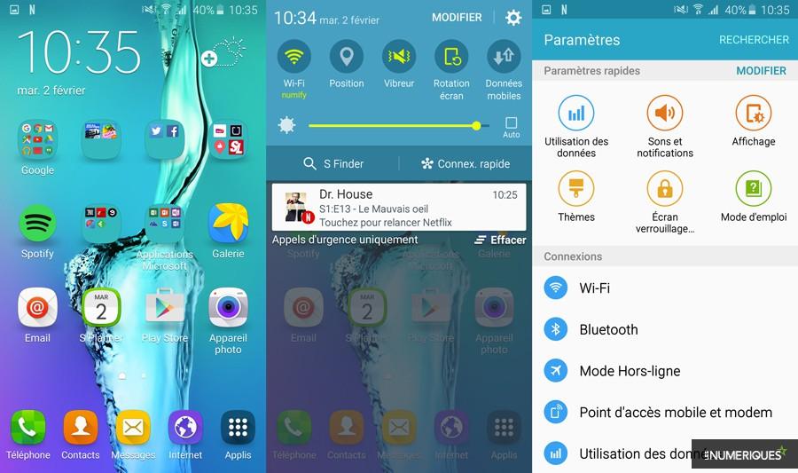 Surcouche de Samsung : Touchwiz