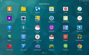 "Tablette Samsung Galaxy S 10.5"" : liste des applications"