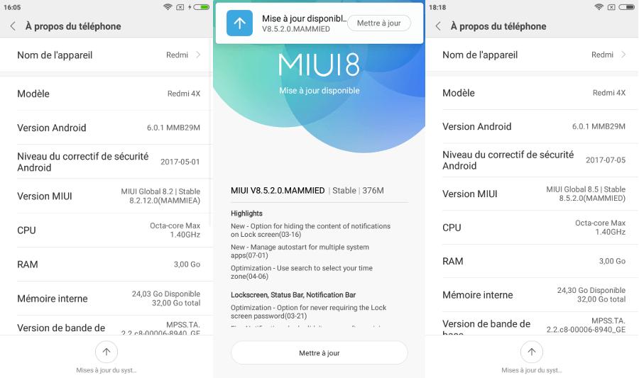 Xiaomi Redmi 4X : MIUI 8 - A Propos