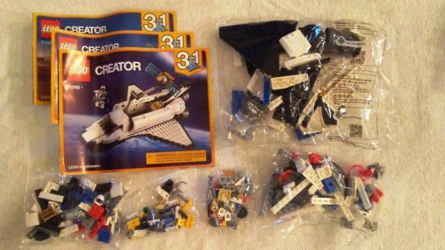 Unboxing : LEGO Creator Réf. 31066 – La navette spatial et son satellite