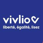 Logo : Vivlio (Liberté, égalité, lisez)
